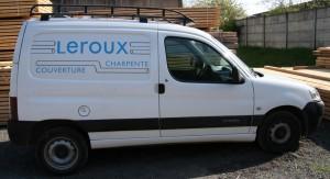 Camionnette légère Entreprise Leroux Couverture